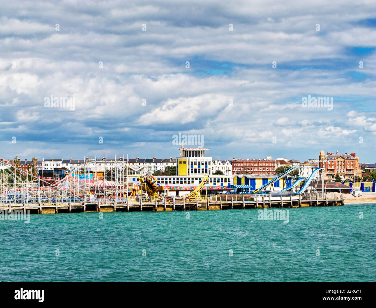 Clarence Pier Amusement Park at Southsea Portsmouth Hampshire England UK Stock Photo