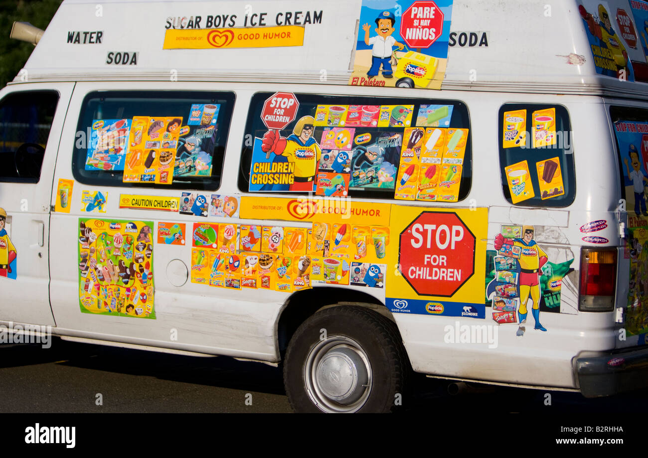 side of an ice cream truck stock photo 18958390 alamy