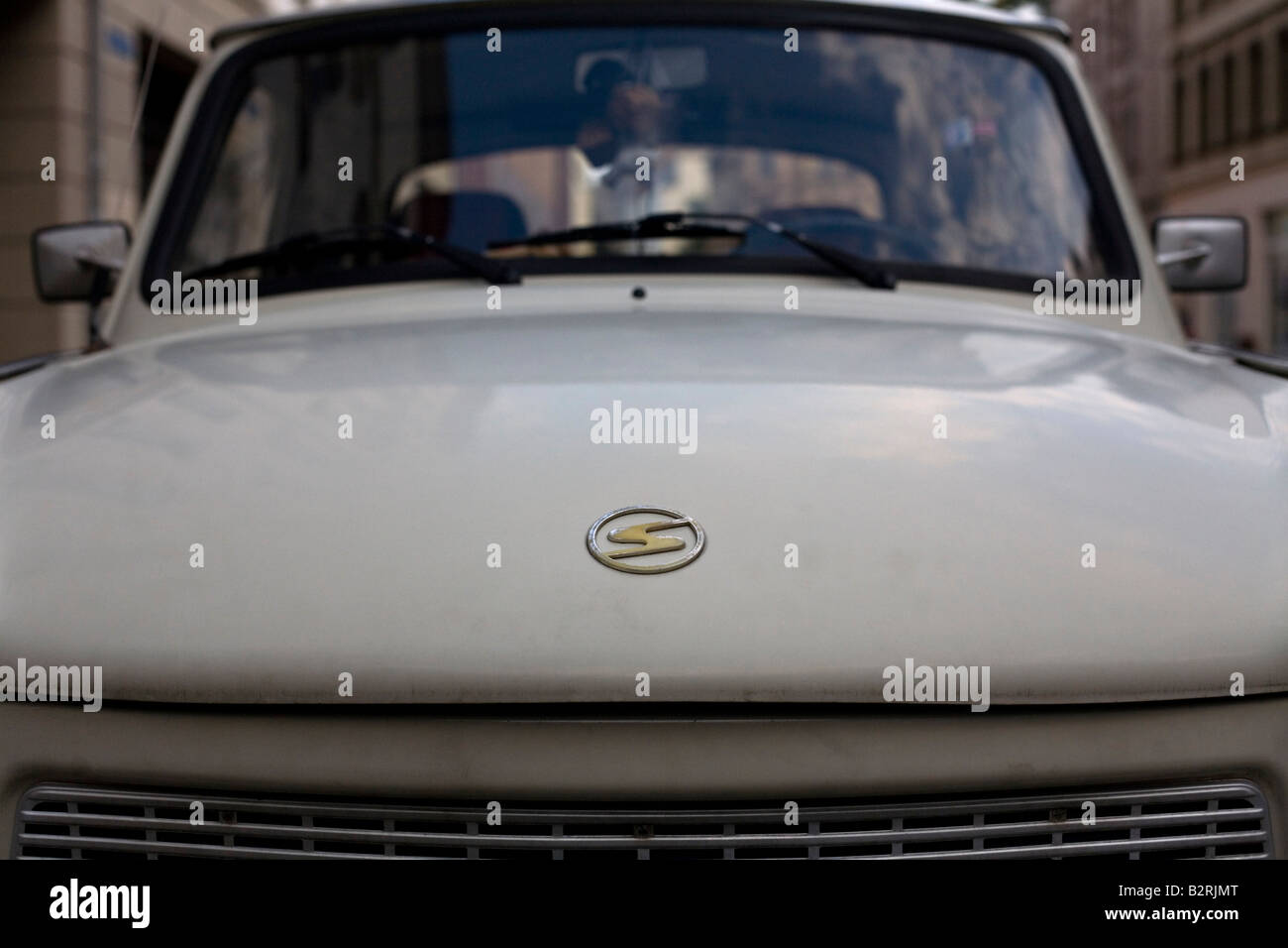 Front of a Trabant or 'Trabi,' the car made in the former East Germany. - Stock Image