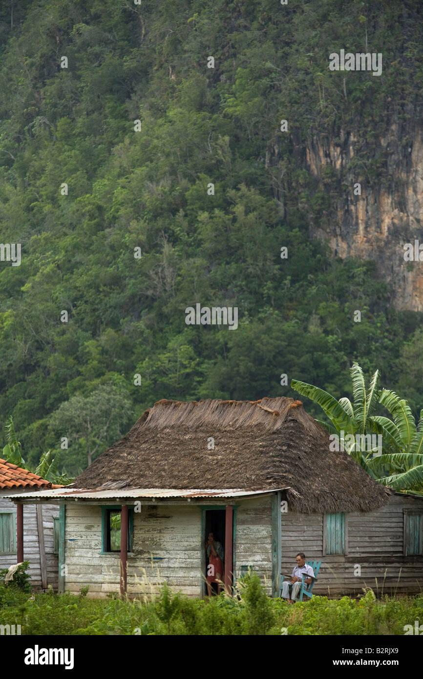 Rural farmhouse near Vinales, Cuba - Stock Image