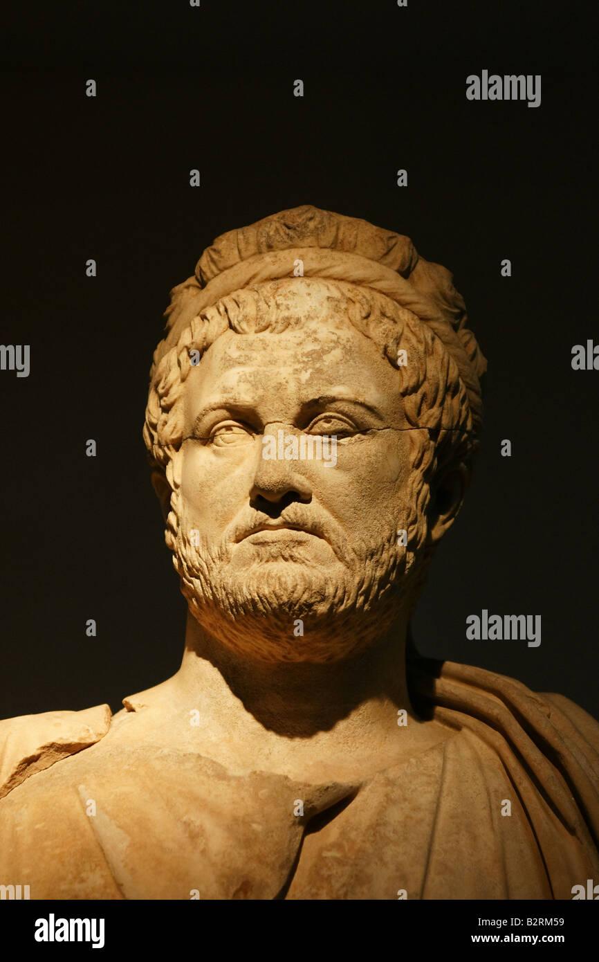Publius Aelius Hadrianus, Statue of the emperor hadrian at the antalya museum - Stock Image
