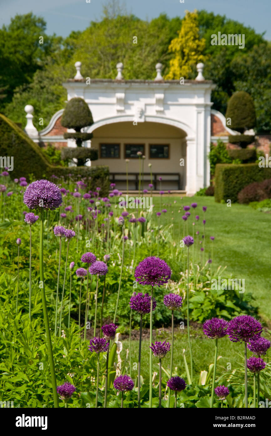 The Herbaceous Borders at Arley Hall, Arley, Cheshire, England, UK - Stock Image