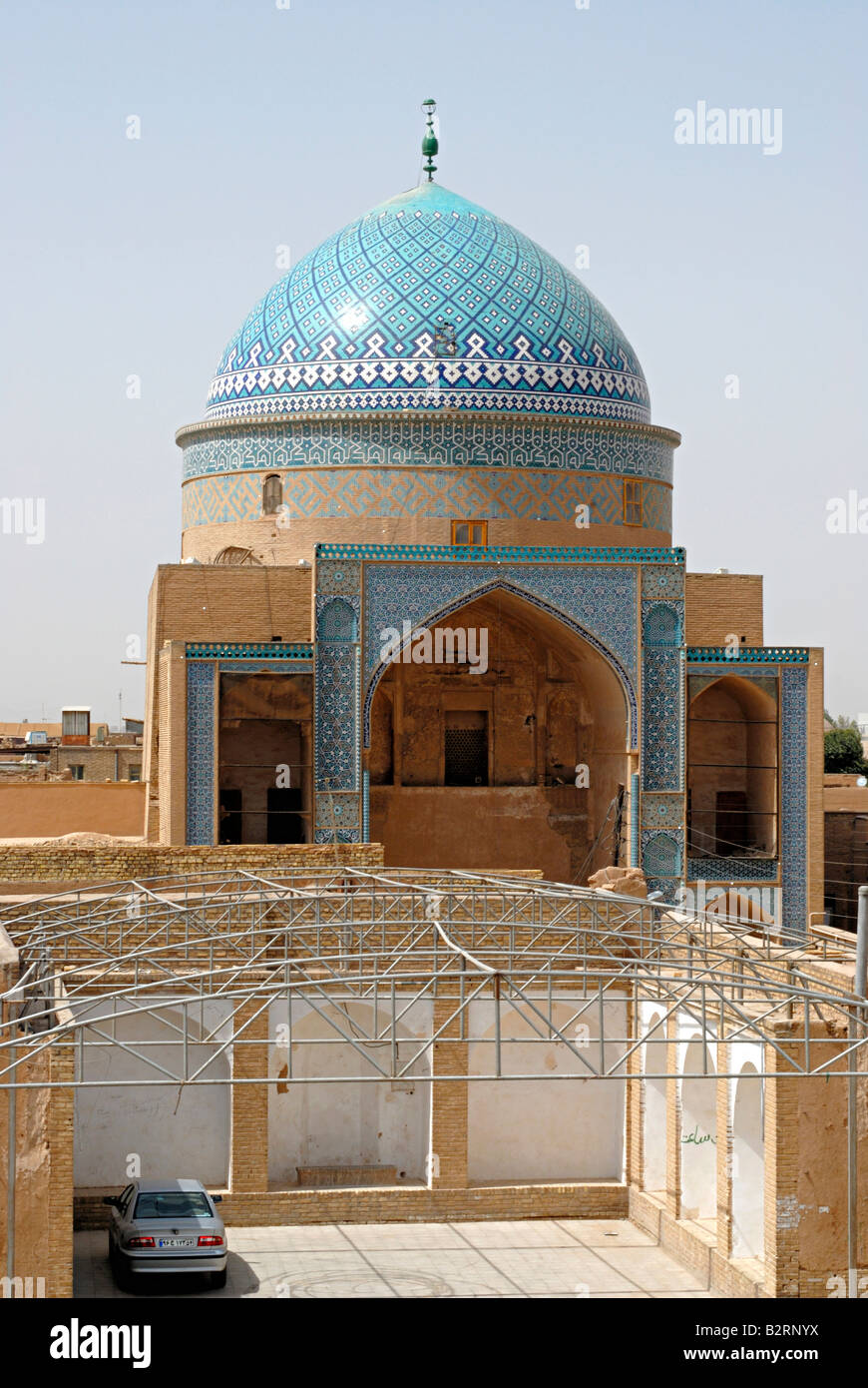 Iran Yazd- General View of Mausoleum of Sayyed Rokn Al-Din - Stock Image