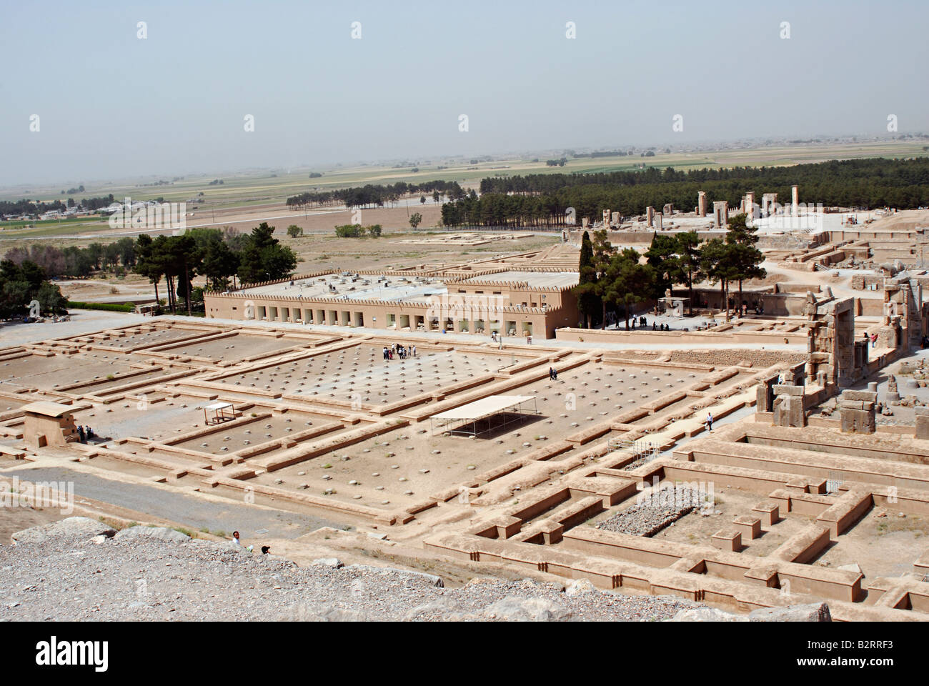Iran Persepolis General View Of The Remains Of The Palace Stock Photo Alamy