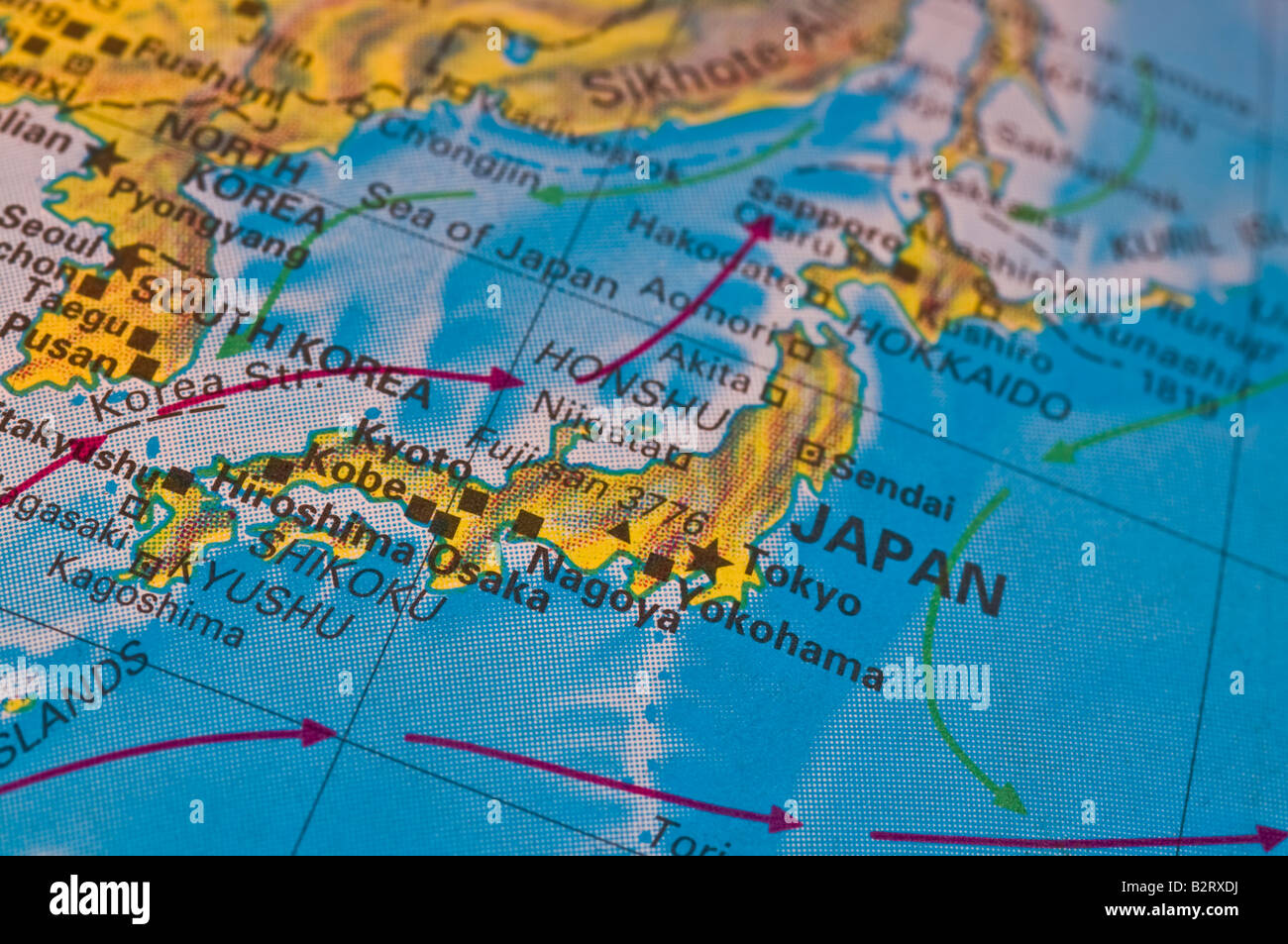 Picture of: Japan Map High Resolution Stock Photography And Images Alamy