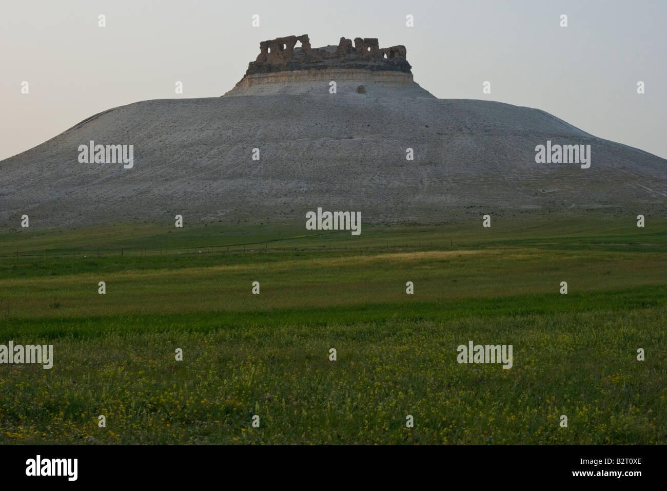 Qalaat Shmaimis an Arab Castle Ruin in Syria - Stock Image