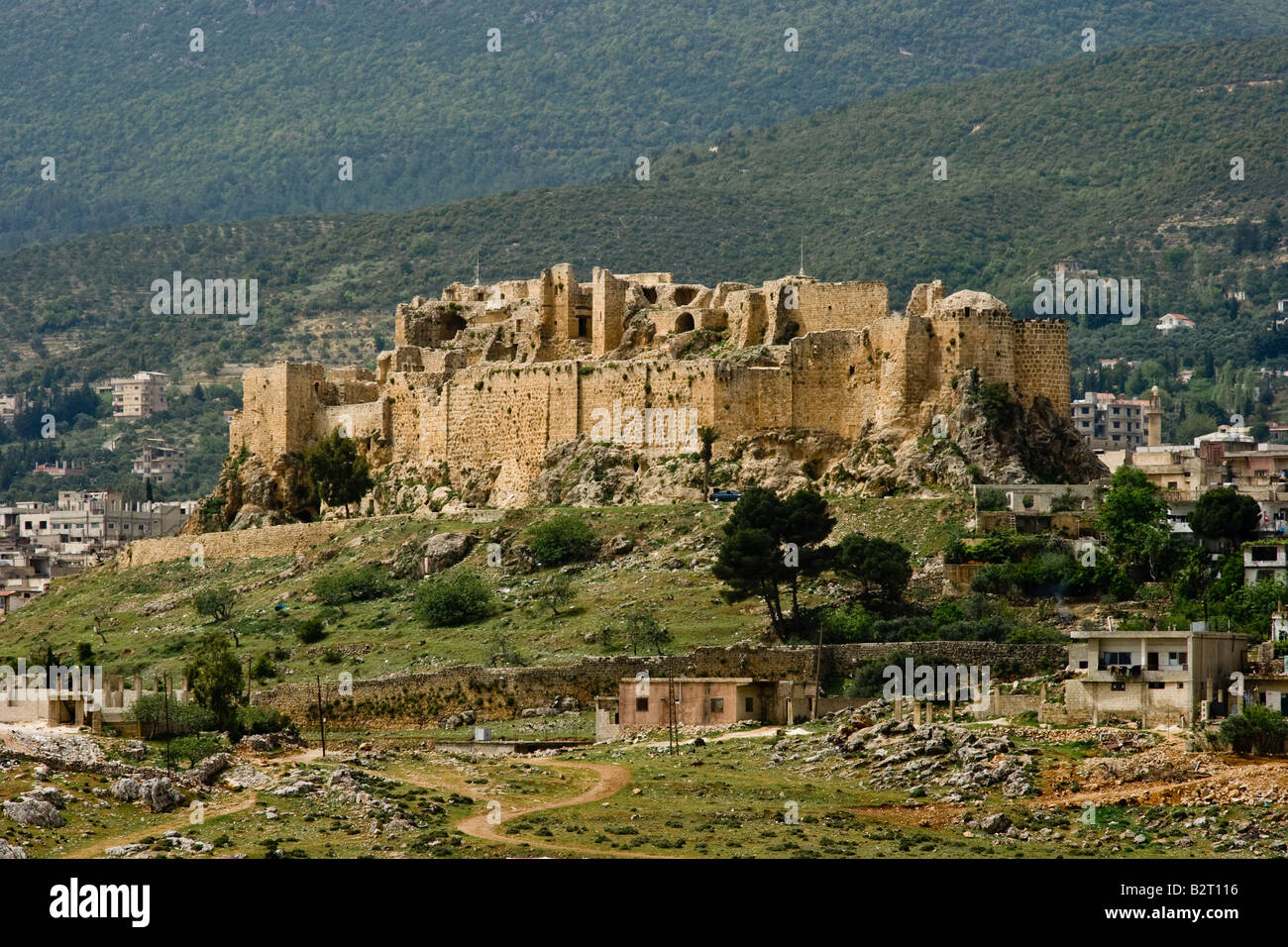 Qalaat Misyaf One of the Assassin Castles in Syria - Stock Image