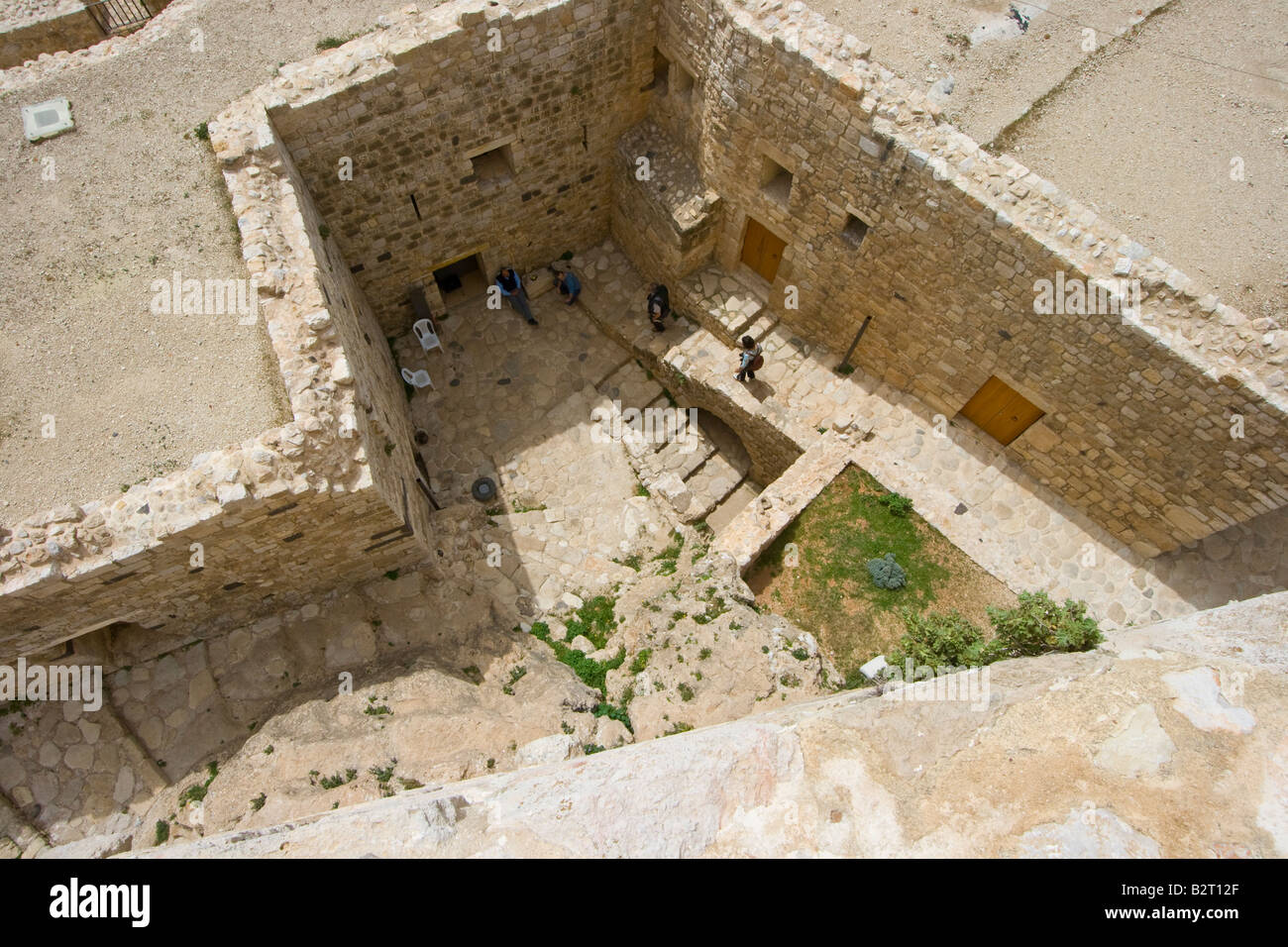 Inside Qalaat Misyaf One of the Assassin Castles in Syria - Stock Image