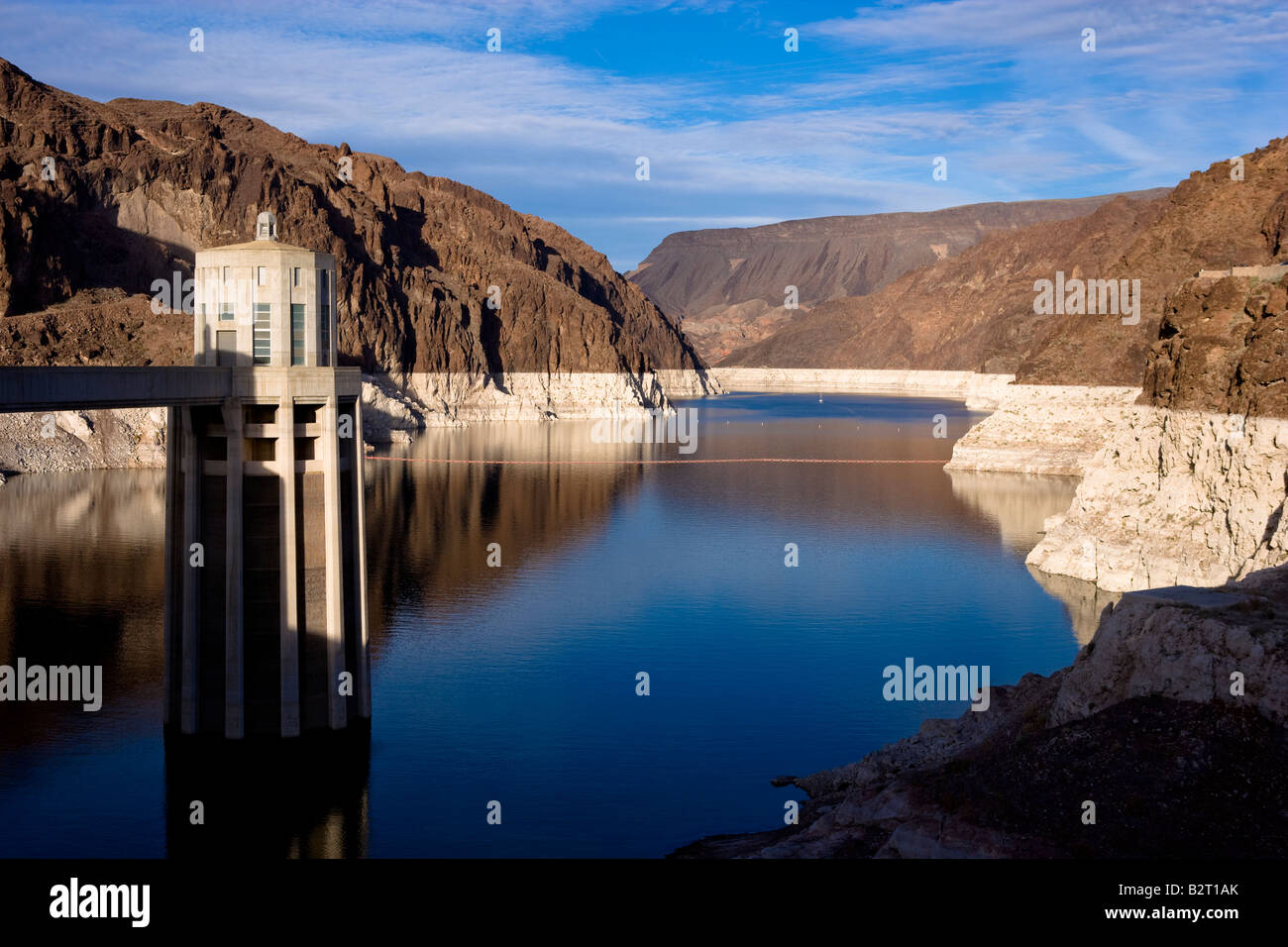 Lake Mead from the Hoover Dam Stock Photo