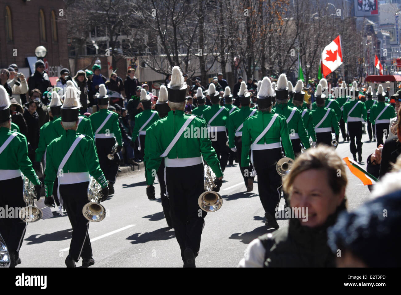 St Patrick's Day Parade on Yonge Street in Toronto, Ontario, Canada on March 16, 2008 - Stock Image