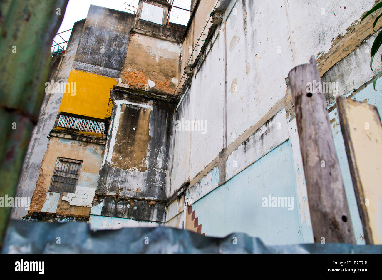 Urban textures of decay and dirt buildings from bangkok, Thailand, SE asia - Stock Image