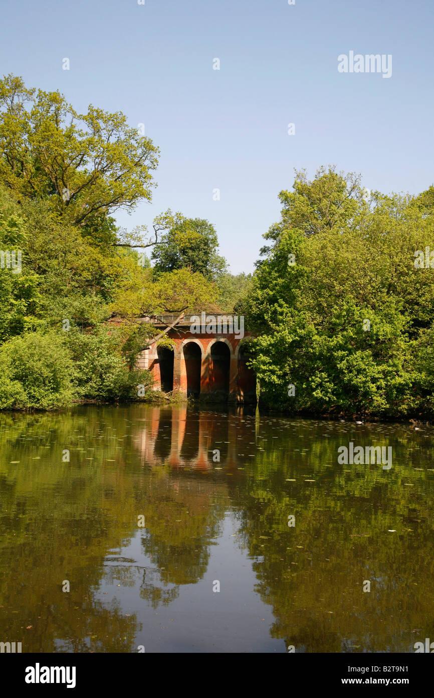 Viaduct Pond on Hampstead Heath, Hampstead, London - Stock Image