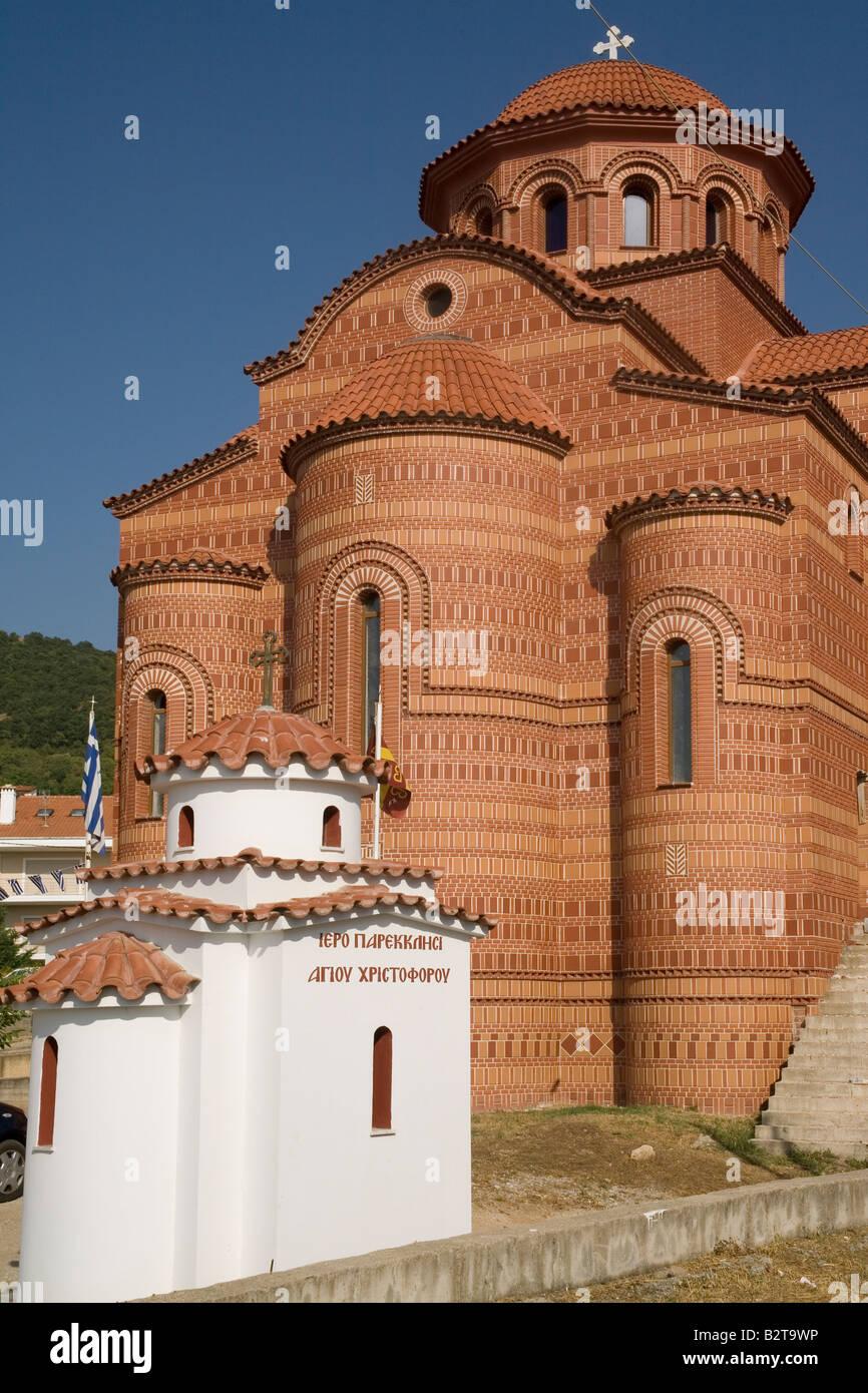 Greece Macedonia Kastoria church contrasts - Stock Image