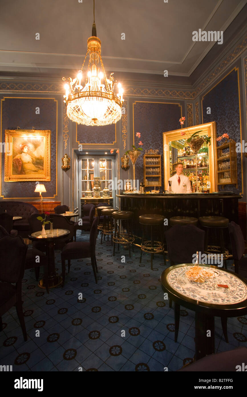 Bar of Hotel Sacher, Vienna, Austria - Stock Image