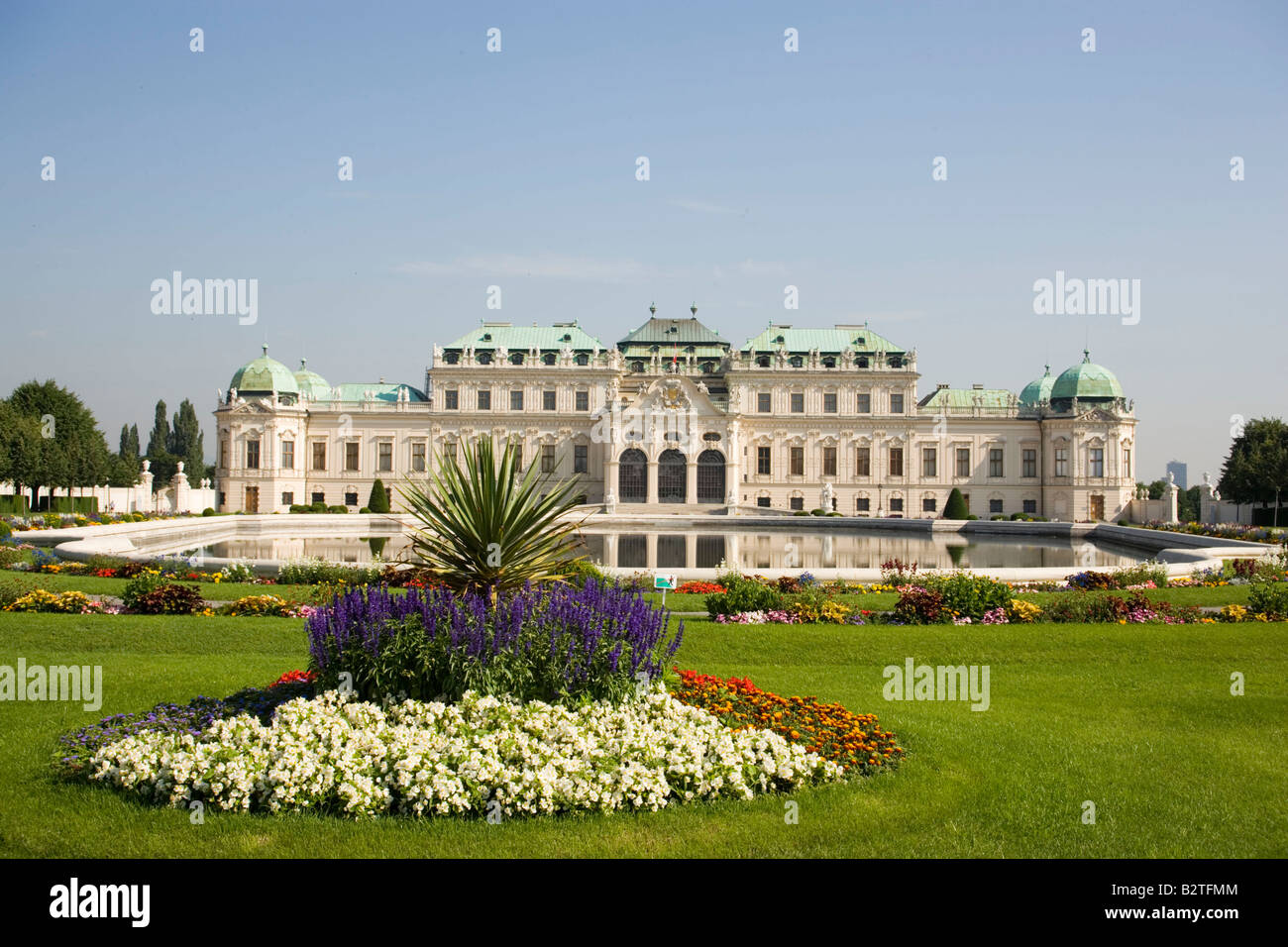 Schloss Belvedere, the home of Prince Eugene of Savoy, Vienna, Austria Stock Photo