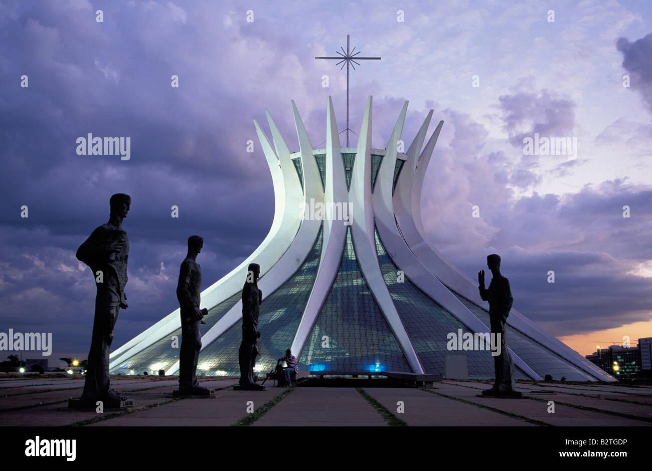 Catedral Metropolitana, Brasilia, Brazil - Stock Image