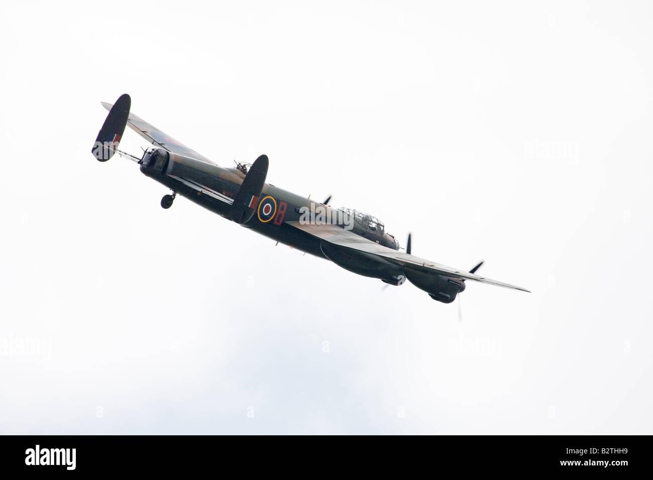 Avro Lancaster B1 PA474 (EE139 HW-R  'Phantom of the Ruhr') of the Battle of Britain Memorial Flight flying - Stock Image