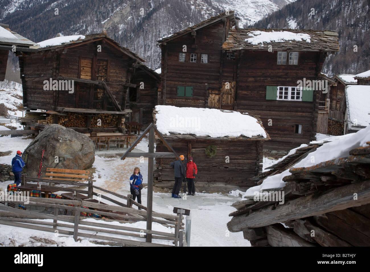 Restaurant zum See, Zum See, Zermatt, Wallis, Switzerland - Stock Image
