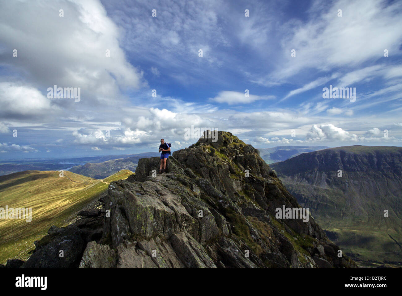 Standing on top of the world - Stock Image