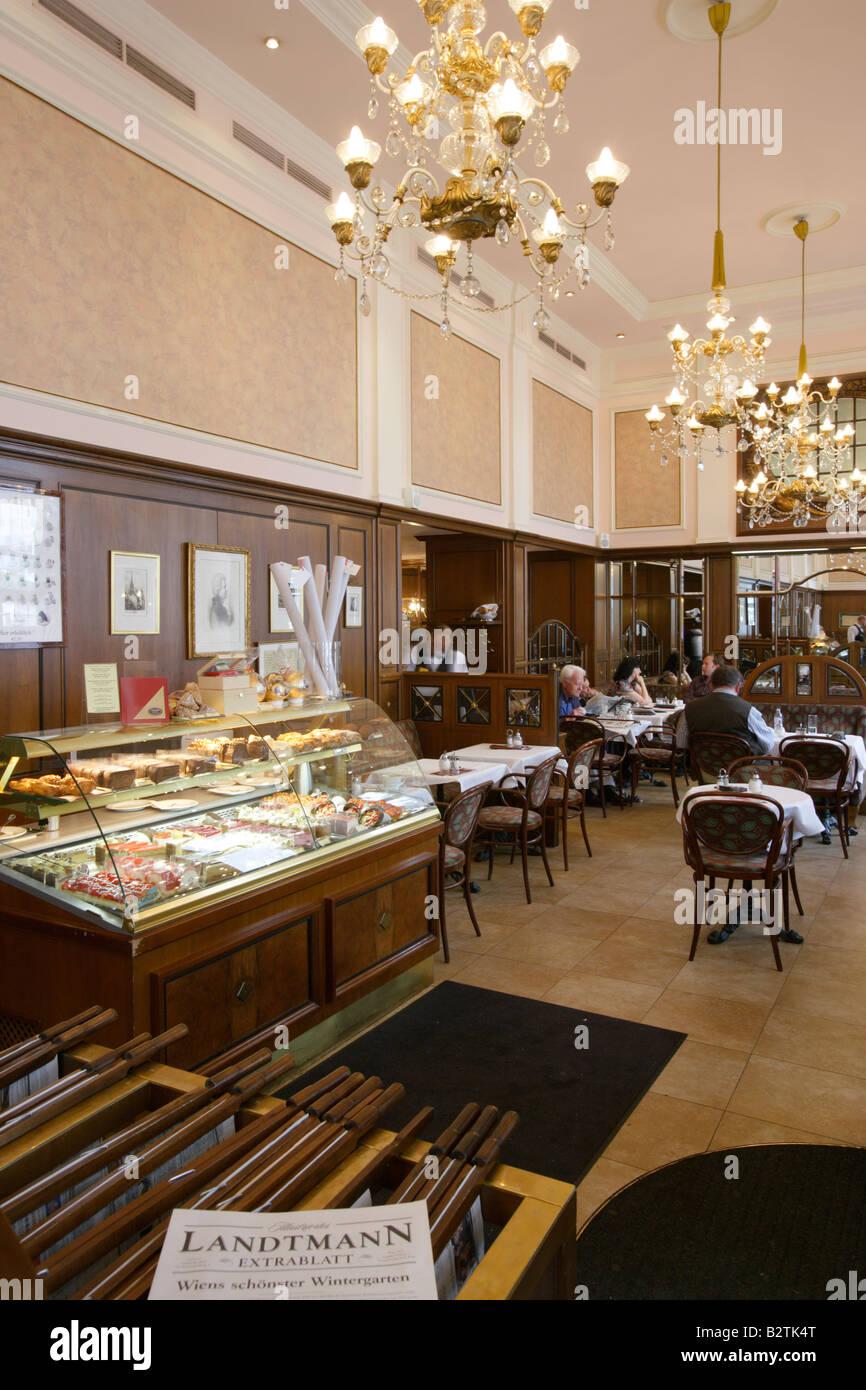 General Interior view of Cafe Mozart Vienna Austria - Stock Image
