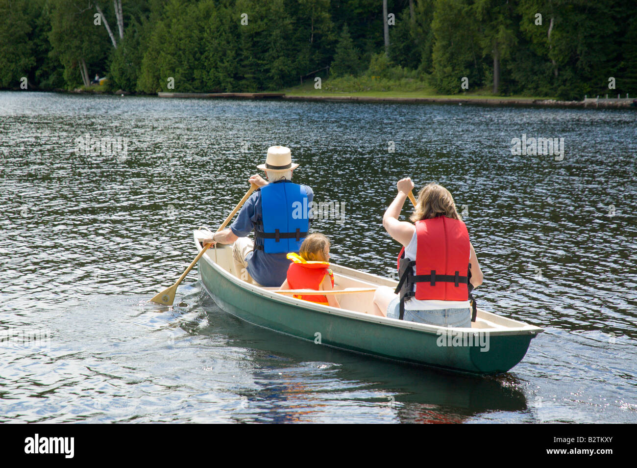 People leaving on a short canoe trip Stock Photo: 18982179