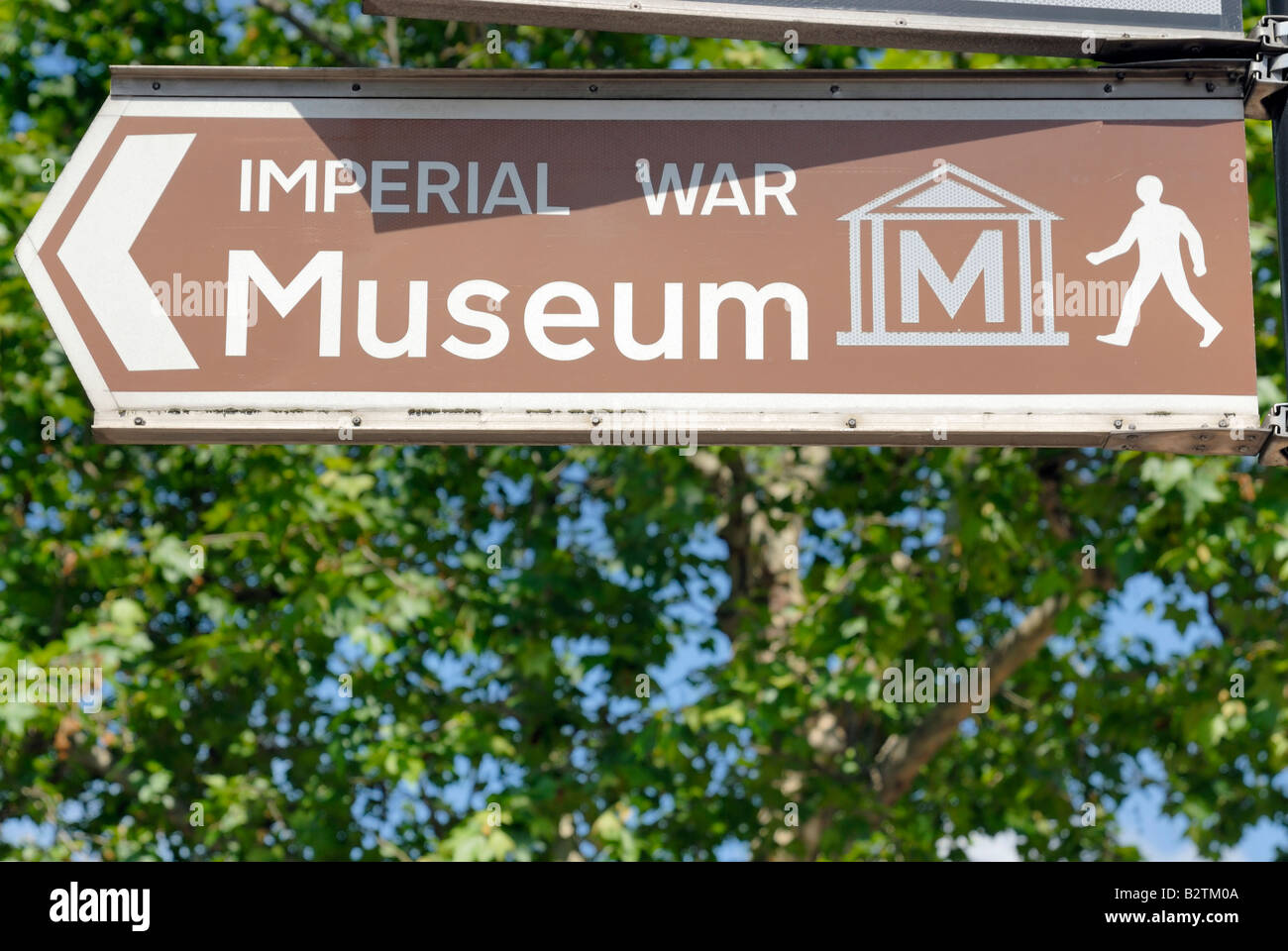 Imperial War Museum sign - Stock Image