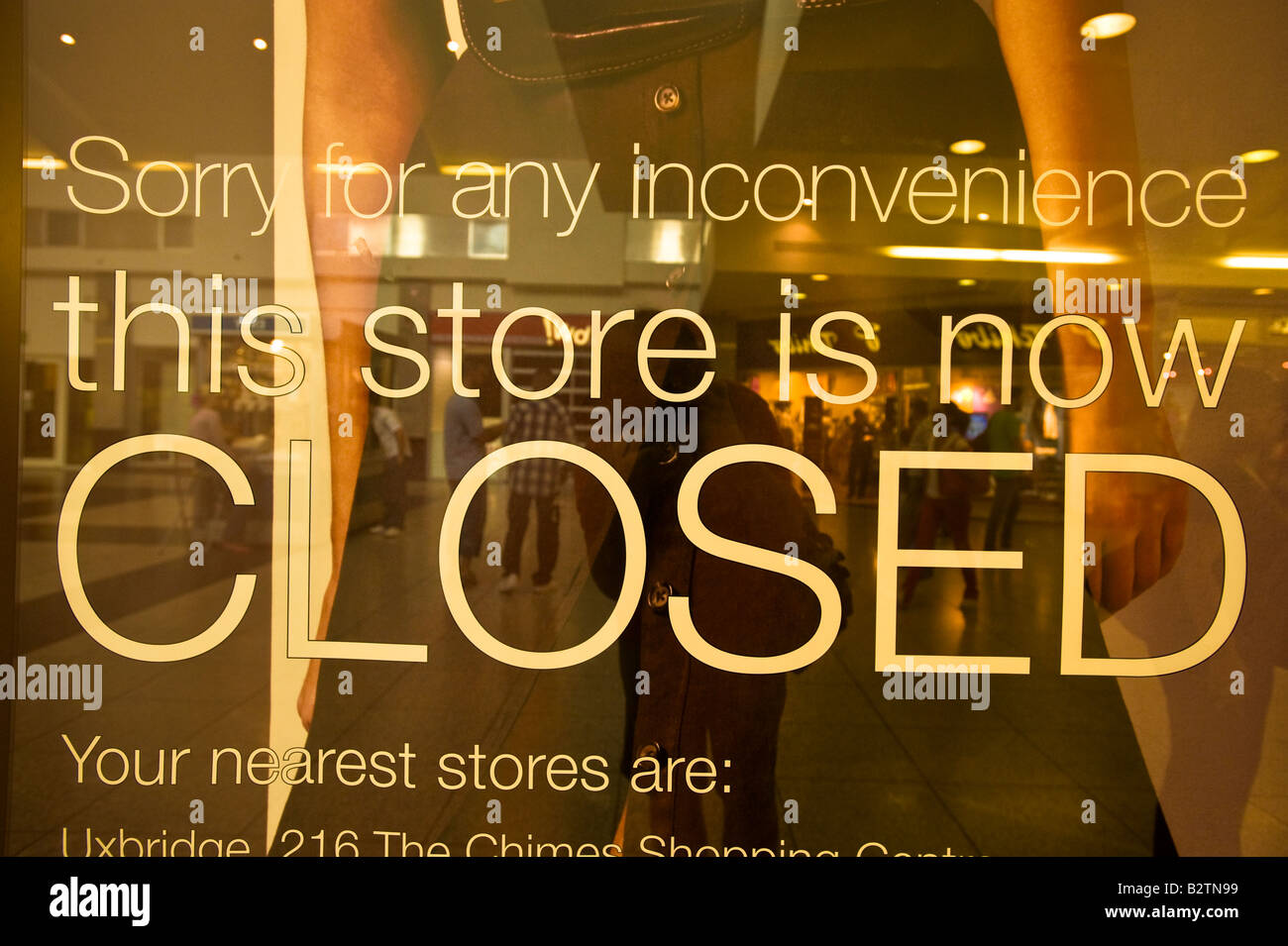 Shop is closed for business Ealing London United Kingdom - Stock Image