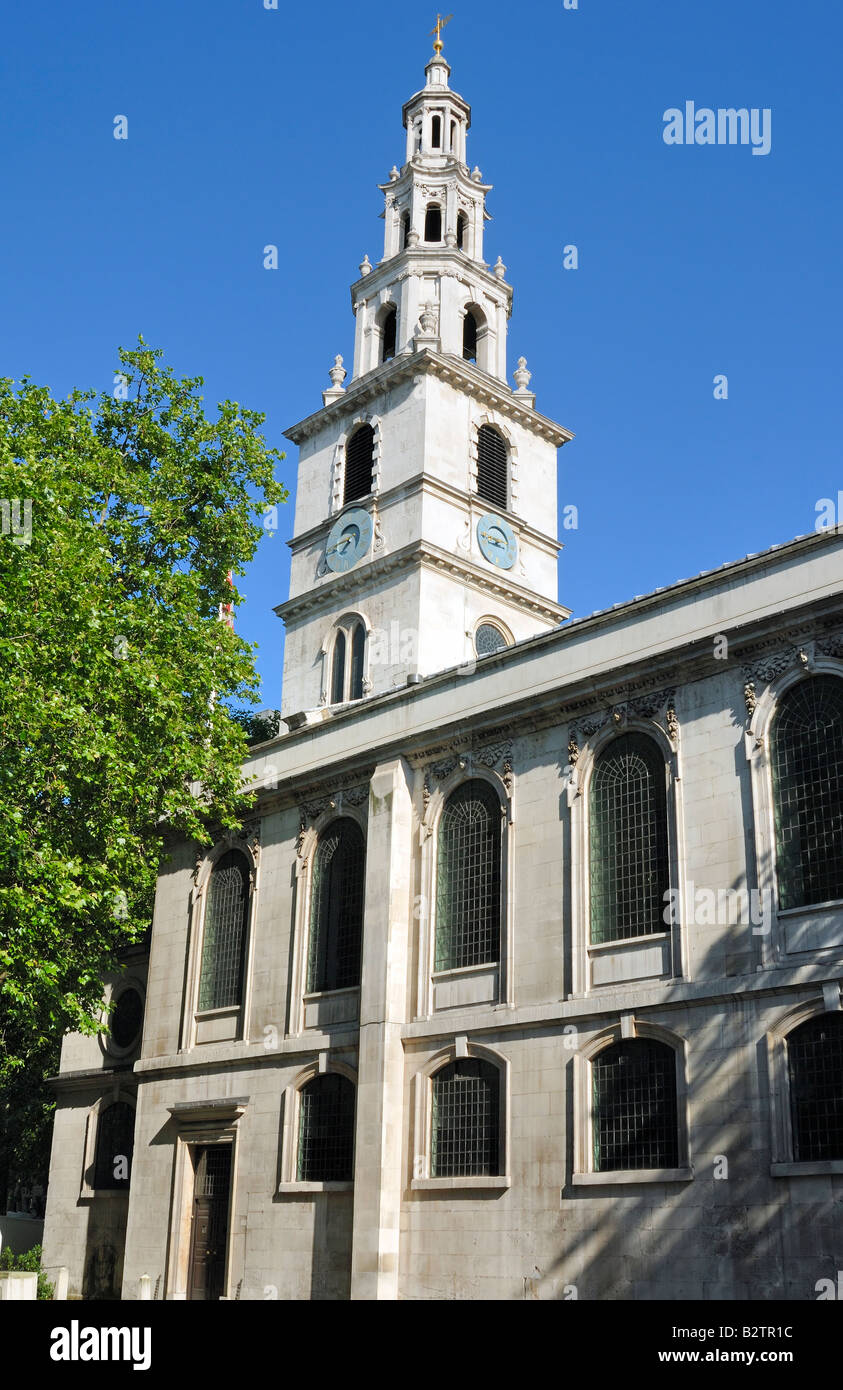 St Clement Dane's, The Strand, London - Stock Image