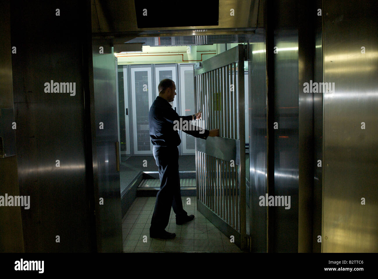 The former Bank of England bullion vault in Manchester, now home to secure data storage - Stock Image