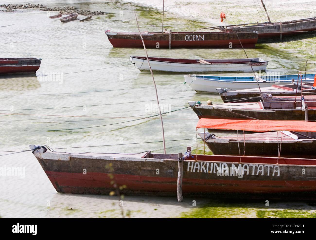 znzibar boats - Stock Image