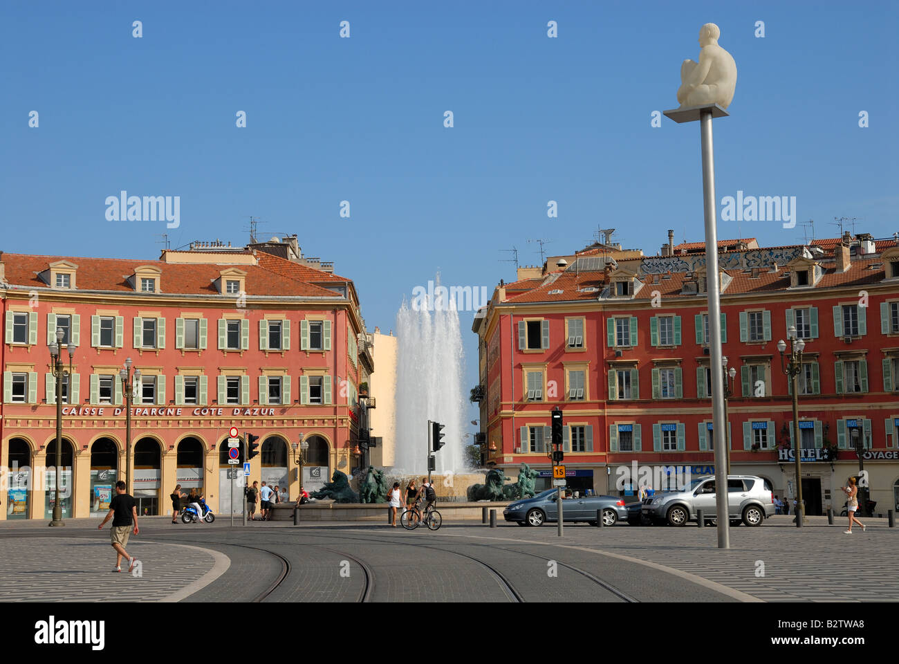 View of the Place Masséna in Nice, France - Stock Image