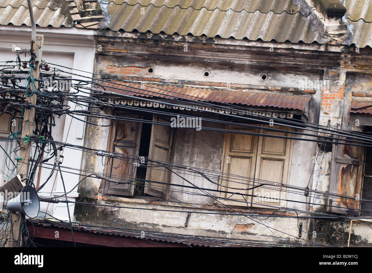 Urban textures from bangkok, Thailand, SE asia - Stock Image