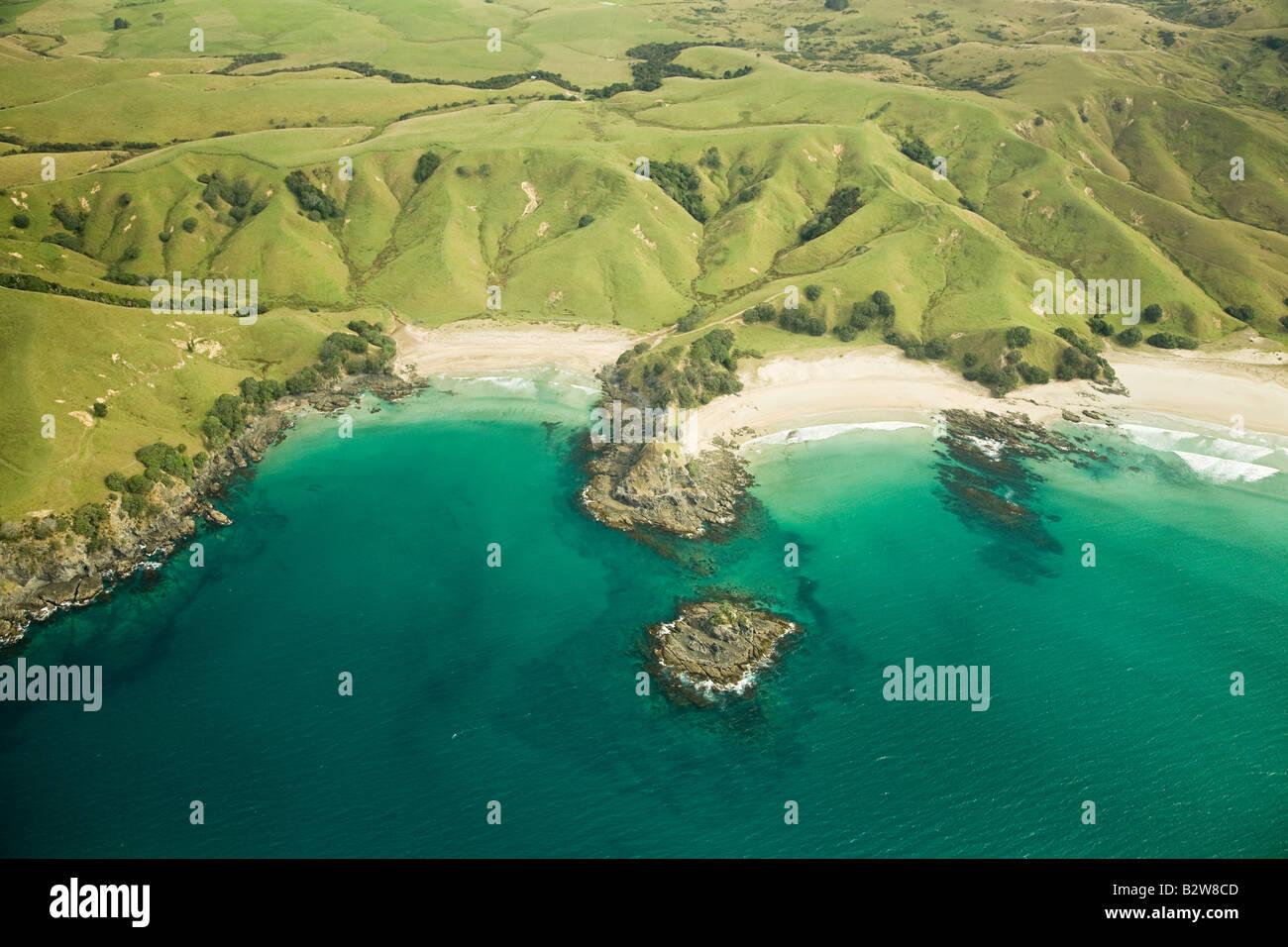Coastline of north island - Stock Image