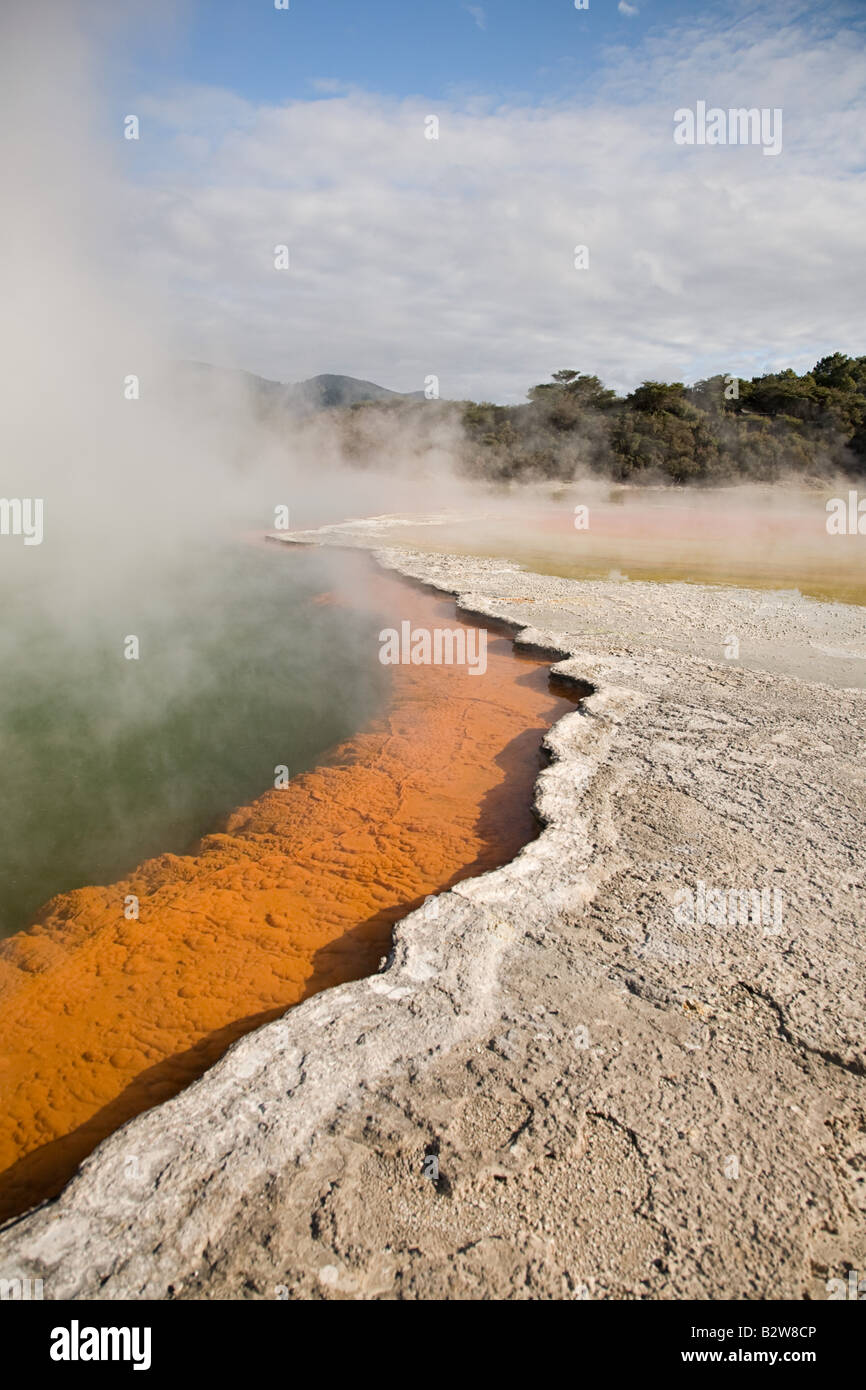 Wai-o-tapu hot springs - Stock Image