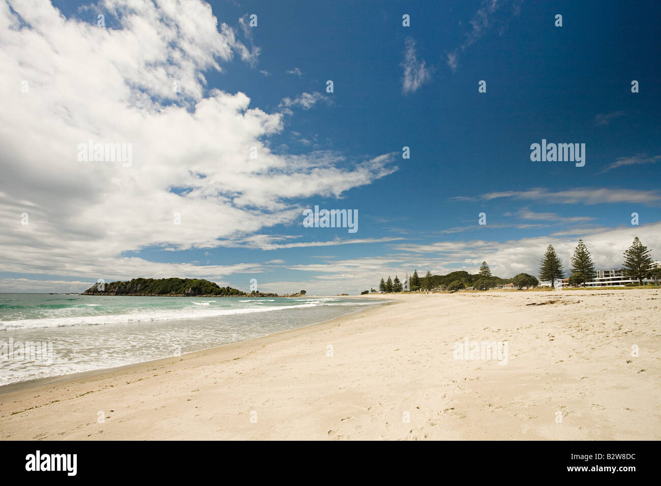 A beach on north island - Stock Image