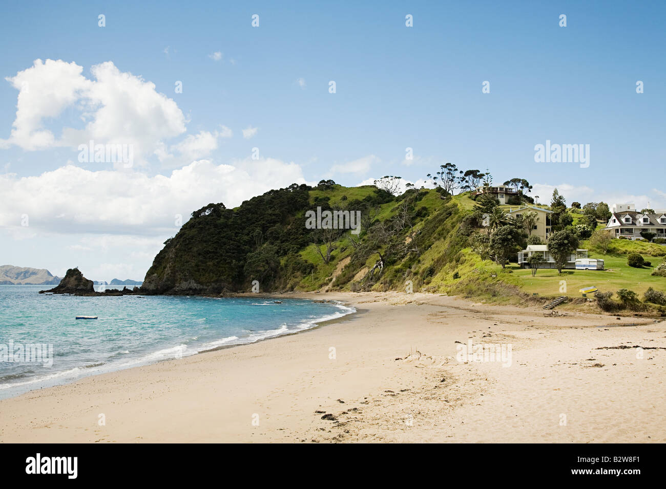 Beach russell north island - Stock Image