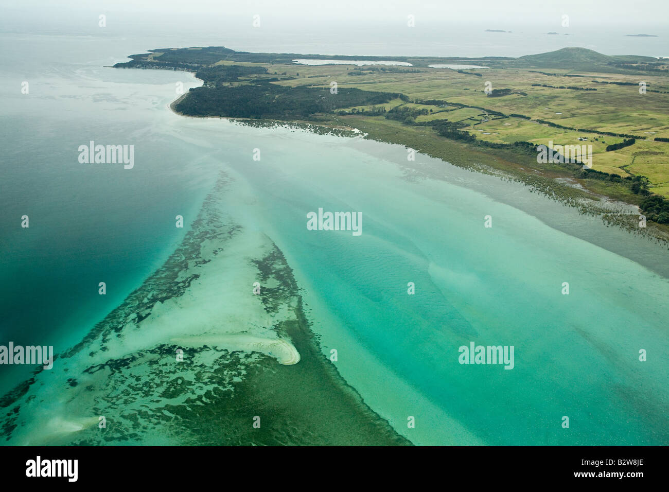 Aerial view of north island - Stock Image