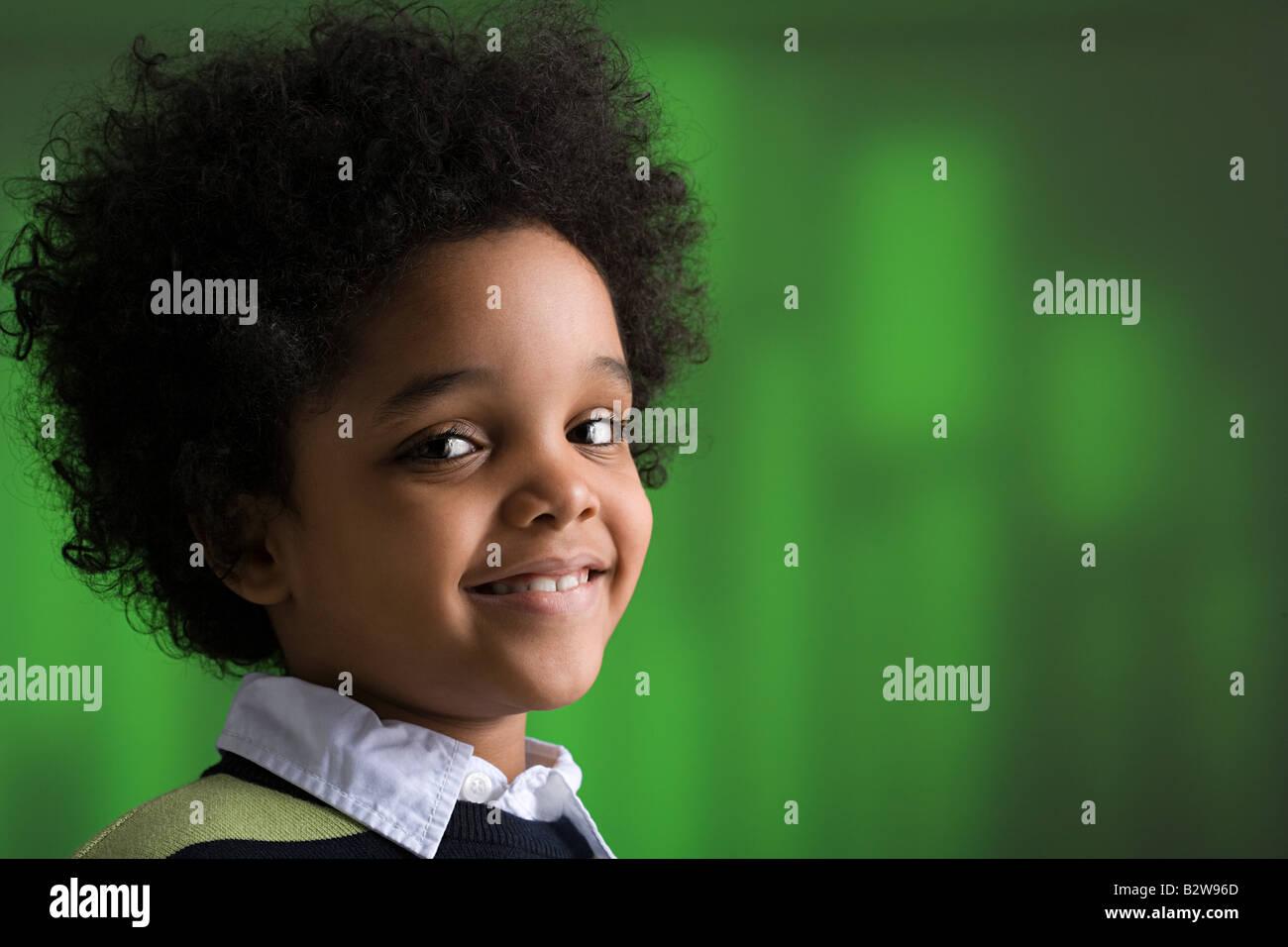 Portrait of a boy - Stock Image