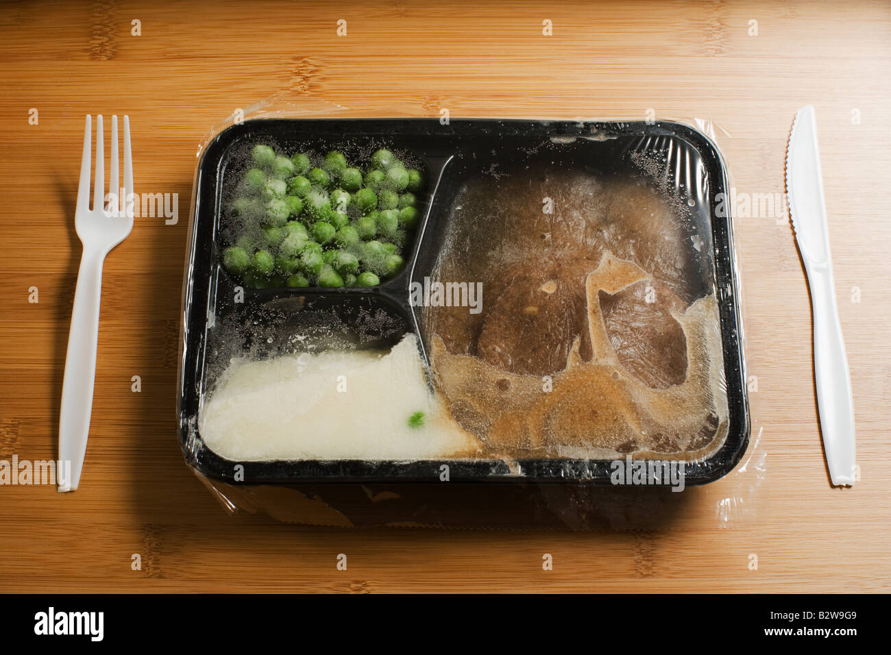 A tv dinner - Stock Image