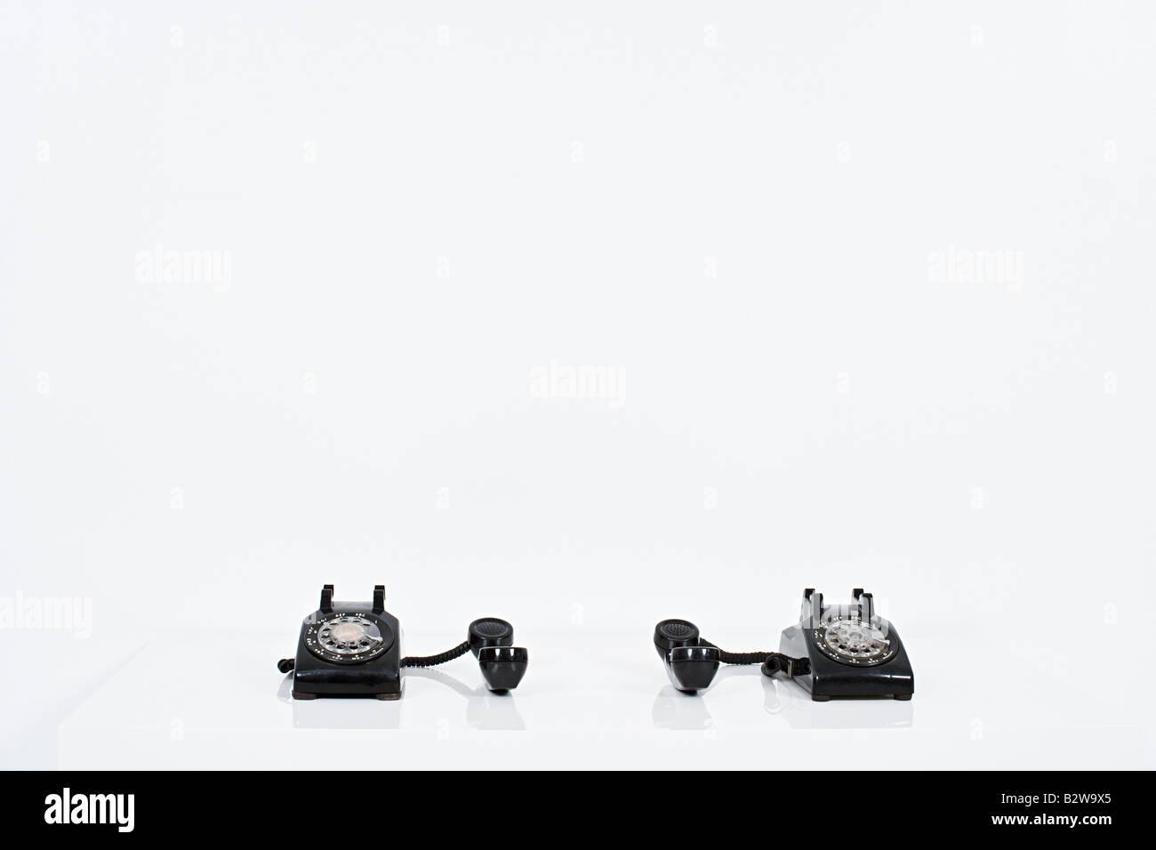 Two telephones - Stock Image