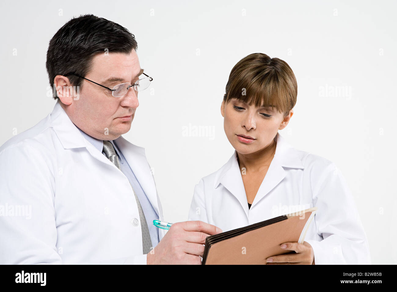 Scientists with file Stock Photo
