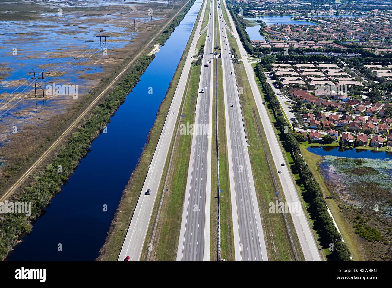 A highway in fort lauderdale Stock Photo