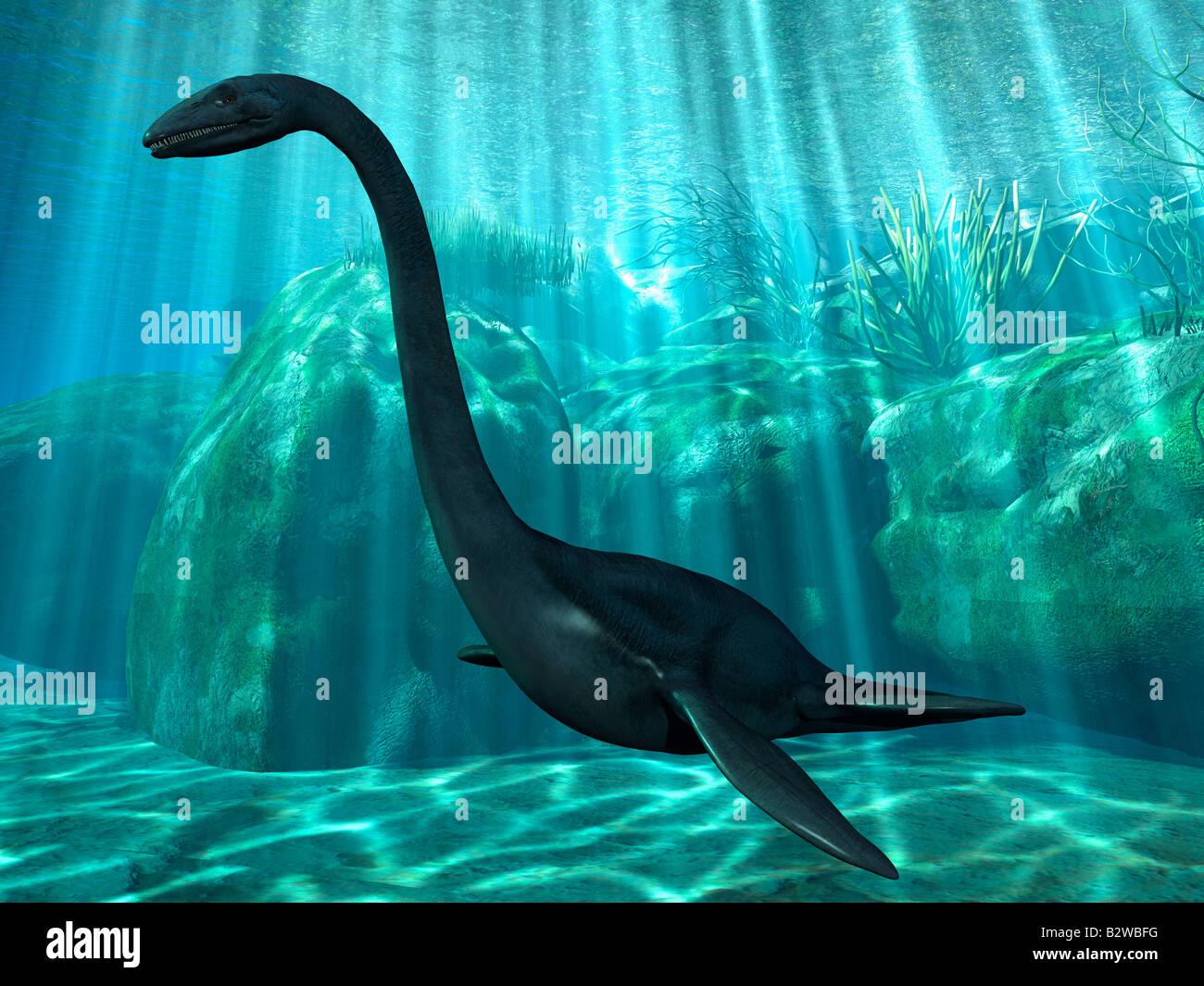 Elasmosaurus - Stock Image