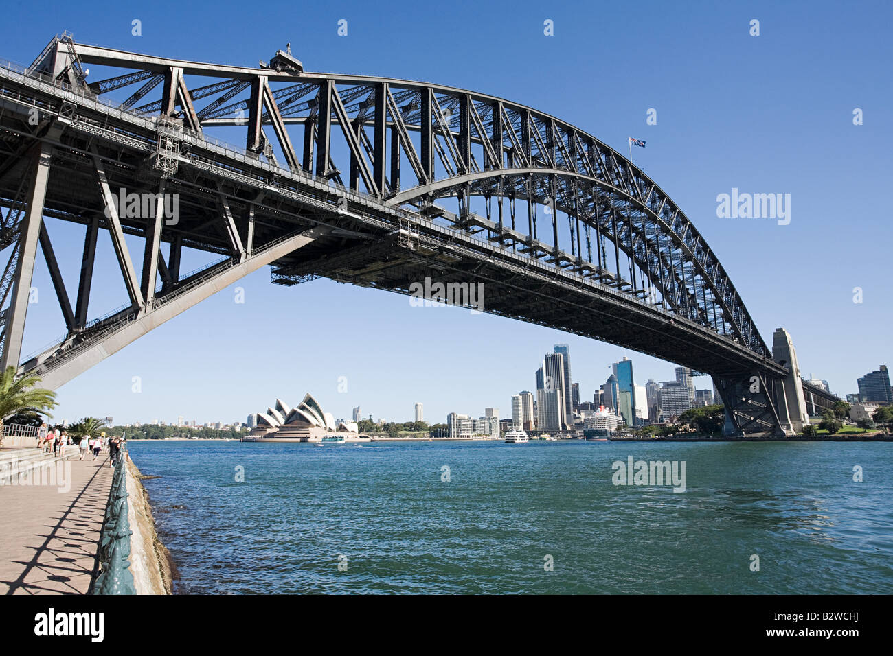 Sydney opera house and sydney harbour bridge - Stock Image