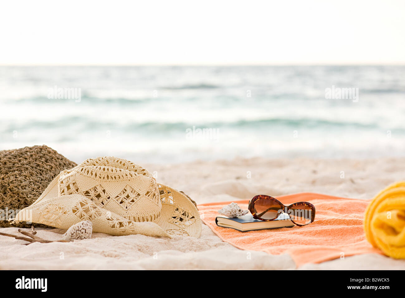 Items on a beach - Stock Image