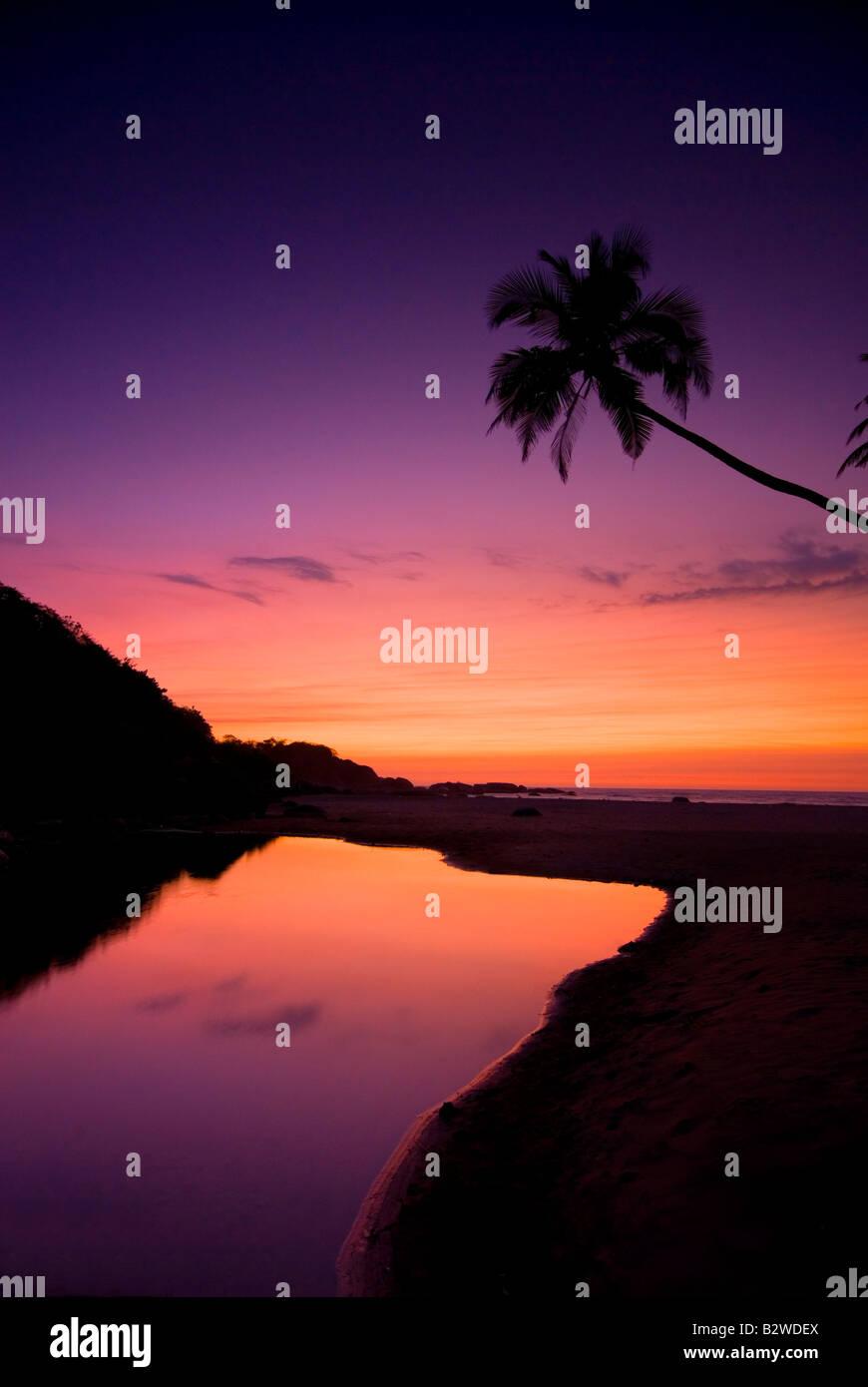 Sunset at Agonda Beach, South Goa, India, Asia - Stock Image