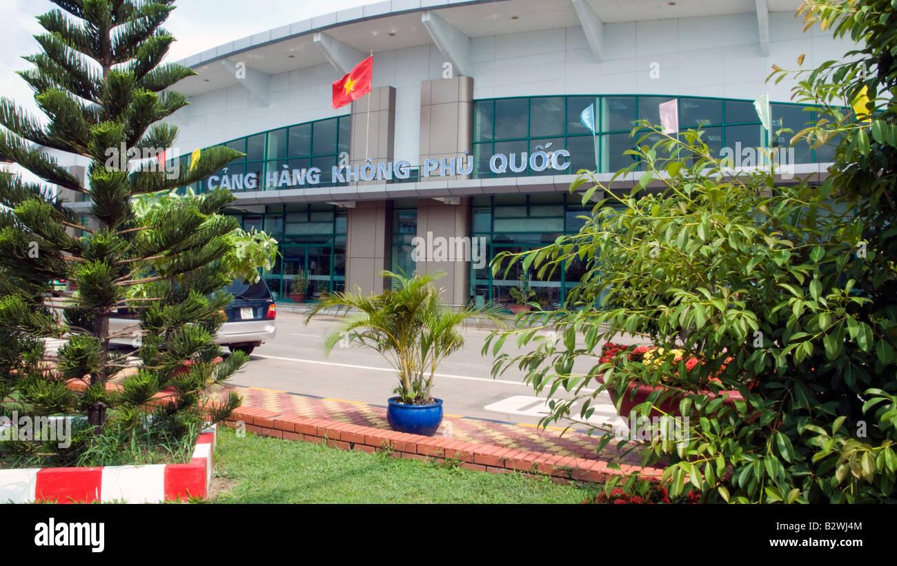 Passenger terminal Phu Quoc Island airport Vietnam - Stock Image