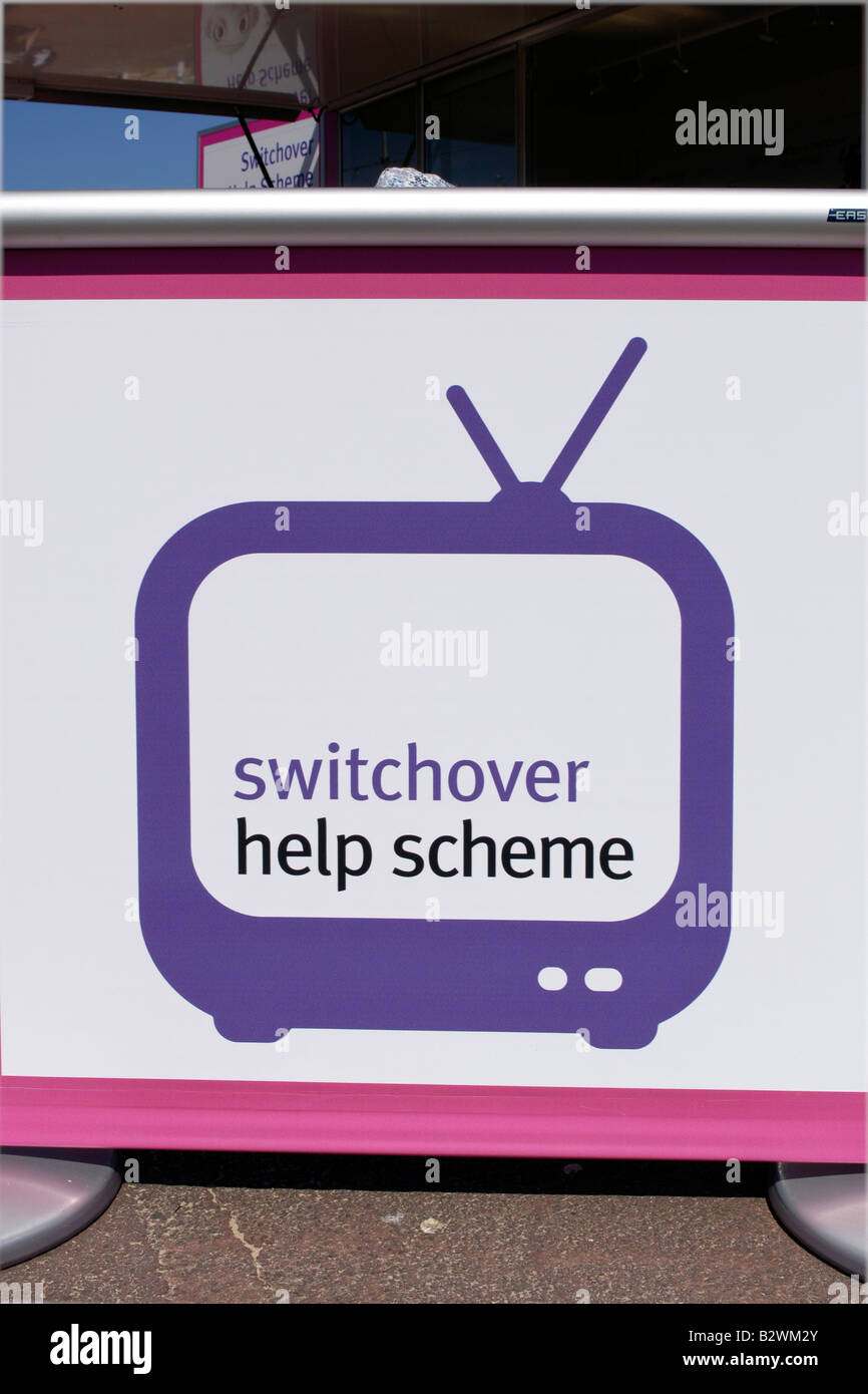 Digital UK switchover campaign posters - Stock Image