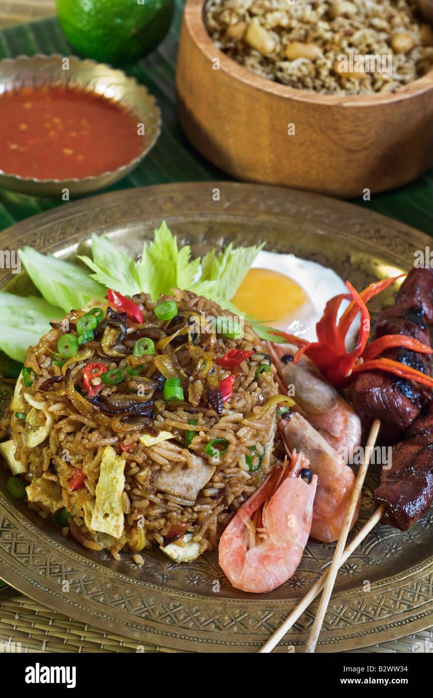 Nasi Goreng Fried Rice Indonesia SE Asia Food Stock Photo