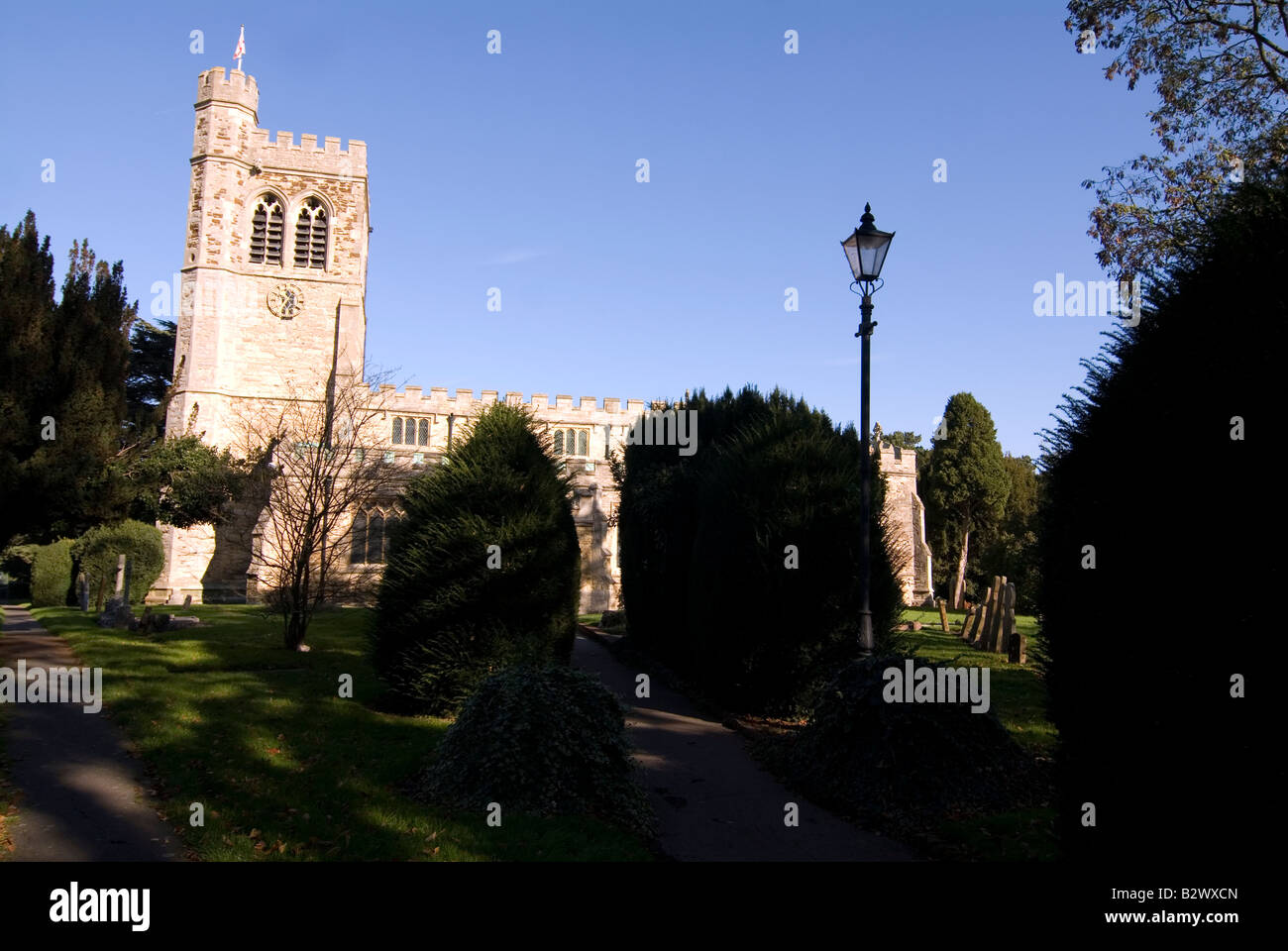 Racist vandals desecrated 11 Muslim Graves in St Mary s Church Cemetery in Church Green Road Bletchley - Stock Image